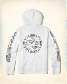 Hollister Logo Graphic Hoodie, White