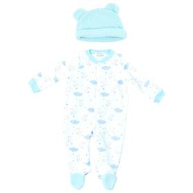 Baby Boy (0-9M) Quiltex Clouds Quilted Sleeper