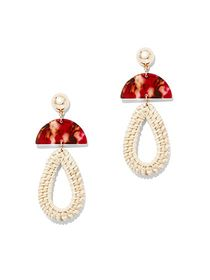 Goldtone Basket-Weave Teardrop Earring - New York