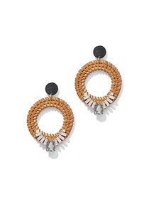 Basket-Weave Hoop Drop Earring - New York & Compan