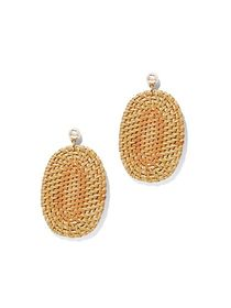 Basket-Weave Oval Drop Earring - New York & Compan
