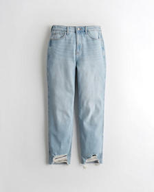 Hollister Ultra High-Rise Mom Jeans, LIGHT