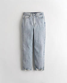 Hollister High-Rise Vintage Straight Jeans, MEDIUM