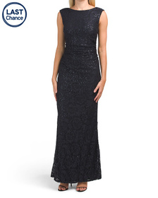 MARINA Lace And Sequin Gown
