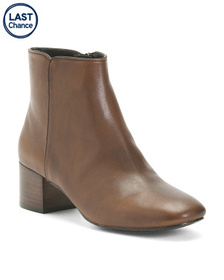 Reveal Designer Leather Ankle Booties