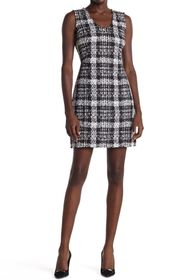 Theory Tweed Plaid Mini Dress