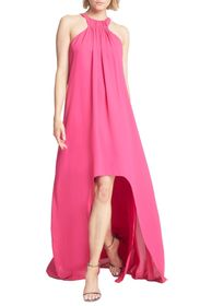 Halston Heritage High/Low Crepe Trapeze Gown