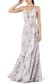 Jenny Yoo Collection Ensley Painted Petals Faux Wr