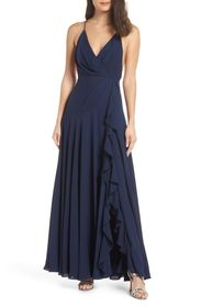 FAME AND PARTNERS The Naya Ruffle Gown