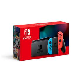 Switch with Neon Blue and Neon Red Joy-con