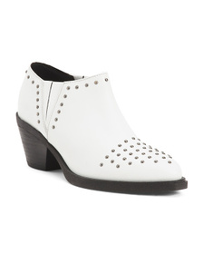 Comfort Leather Studded Booties