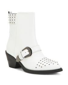 Comfort Studded Leather Boots