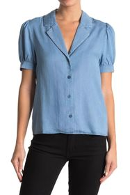 Laundry By Shelli Segal Tencel Notch Lapel Blouse