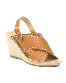 Made In Spain Leather Wedges