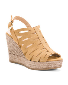 Made In Spain Wedge Suede Sandals