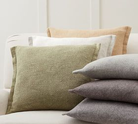 Pottery Barn Fold Over Linen Pillow Covers