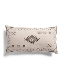 DEVI DESIGNS 14x26 Cochal Embroidered Pillow