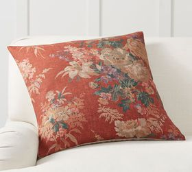 Pottery Barn Lydia Floral Printed Pillow Cover