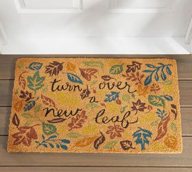 Pottery Barn Turn Over A New Leaf Doormat