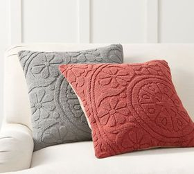 Pottery Barn Mia Embroidered Pillow Covers