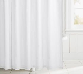 Pottery Barn Clipped Jacquard Cotton Shower Curtai
