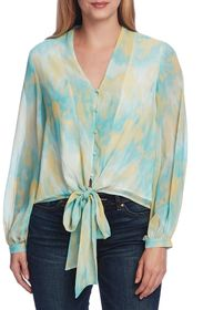 Vince Camuto Bubble Sleeve Tie Dye Top