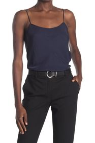 Theory Teah Wash Twill Scoop Neck Cami