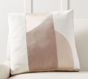 Pottery Barn Pieced Abstract Pillow
