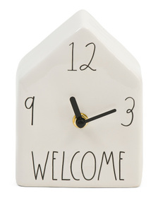 Welcome Ceramic Clock