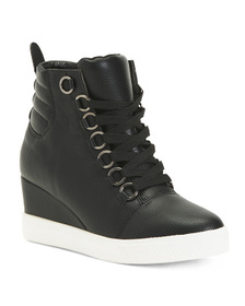CATHERINE MALANDRINO Wedge Lace Up Sneakers