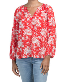 Long Sleeve Ditsy Floral Top