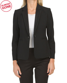 Petite One Button Blazer