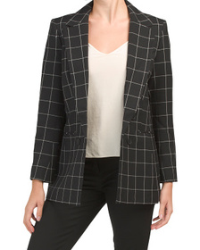 Open Faux Double Breasted Jacket