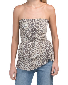 Leopard Print Strapless Date Night Top