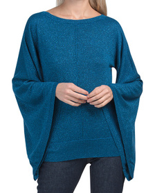 Lurex Balloon Sleeve Sweater