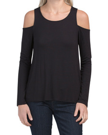Juniors Cold Shoulder Knit Top