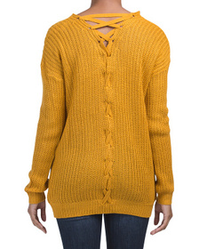 Criss Cross Dolman Sleeve Textured Sweater