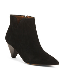 Suede Pointy Toe Boots