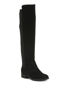 Waterproof High Shaft Suede Boots