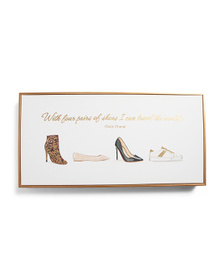 COLLEEN KARIS DESIGNS 12x24 Four Pairs Of Shoes Wa