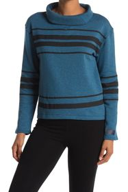 PUMA Slouchy Striped Funnel Neck Sweater