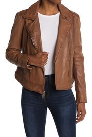Donna Karan Asymmetrical Zip Moto Jacket