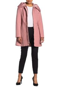 kate spade new york zipper front quilted coat