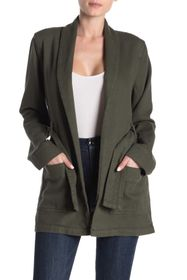 Good American The Wrap Belted Jacket