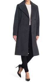 Donna Karan Wool Blended Belted Coat