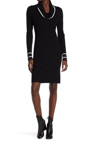 Tommy Hilfiger Ribbed Cowl Neck Sweater Dress
