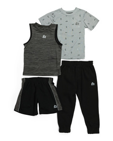 Little Boy 4pc Active Fleece Joggers Set