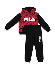 Little Boy All Over Print Hoodie And Jogger Set