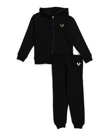 Little Boy Zip Up Hoodie And Fleece Joggers Set