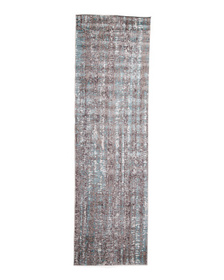 Made In Turkey 2x8 Metallic Soft Textured Runner